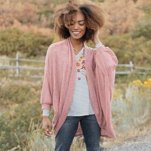 Andree by Unit Dusty Pink Slouchy Vibe Cardigan